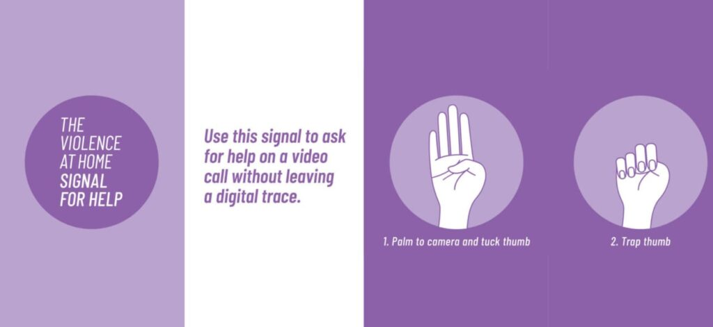 Signal For Help Violenza Donne
